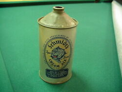 Antique Schmidt's Tiger Cream Ale Quart Cone Top Tin Litho Beer Can Brewery Old