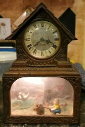 Vintage Haddon The Teeter Totter Animated Electric Clock Parts Or Repair As-is