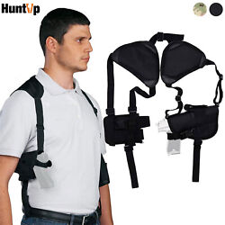 Tactical Concealed Carry Shoulder Gun Pistol Holster with Double Magazine Pouch $15.19