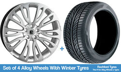 Hawke Winter Alloy Wheels And Snow Tyres 22 For Range Rover [l405] 12-20