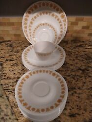 Vintage Corelle Dishes Golden Butterfly Pattern
