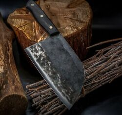 Hunters Serbian Forged Knives Butcher Chopping Cleaver Cut Kitchen Chefand039s Knife
