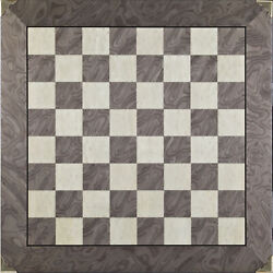 Superior Chess Board High Polished Surface Size 2 3/8 Square With Brass Corners