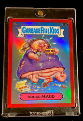 2020 Topps Chrome Garbage Pail Kids Broad Maud 122a Red Refractor Andrsquod 1/5