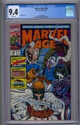 Marvel Age 102 Cgc 9.4 Rob Liefeld Cover X-force