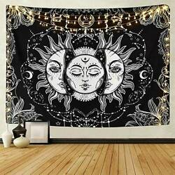 Psychedelic Tapestry Sun and Moon Throw Wall Hanging Bedspread Home Room Decor
