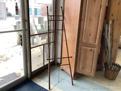 Antique Large Tall Bamboo Easel Artwork Display Entrance Entry Display 69 Tall