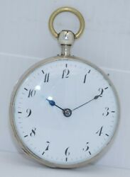 Antique French Verge Fusee Quarter-repeater Pocket Watch Runs Serviced