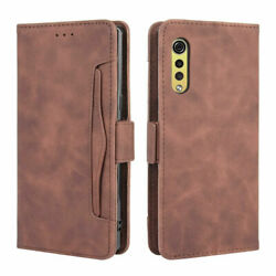 For LG Velvet 5G Magnetic Leather Wallet Removable Card Slot Phone Case Cover
