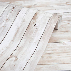 Wood Wallpaper 17.71quot; X 118quot; Self Adhesive Removable Wood Peel and Stick Wall