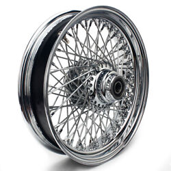 16and039and039 3.5 Chrome Front Wheel Single Disc 80 Spoke For Dyna Touring Softail 00-06