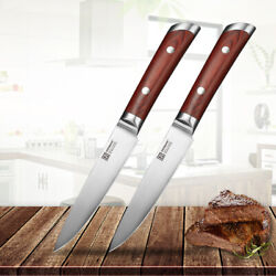 2pcs Utility Steak Knives Set Stainless Steel Table Meat Kitchen Cutlery Knife