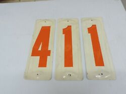 Vintage 1960's Tin Gas Price Number Signs - Old Service Station
