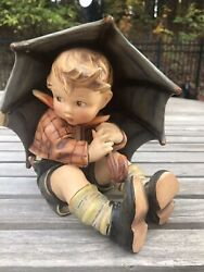 Vintage 8 Large Umbrella Boy 152 Goebel Hummel Figurine Tmk-crown-1 Mark