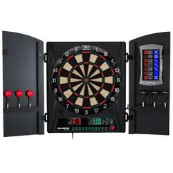 Electronic Dartboard By Arachnid Cricket,o1,34 Games, Bull Shooter, Cabinet Set