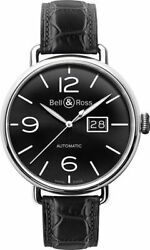 Bell And Ross Vintage Ww1 Automatic Black Dial Menand039s Watch Brww196-bl-st/scr