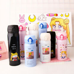 Sailor Moon Pink Water Bottle Thermos Travel Cup Mug Vacuum Flask Girl Gift