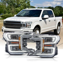 Customized Chrome Full Led Headlights Sequential Born For 18-20 F-150 Limited