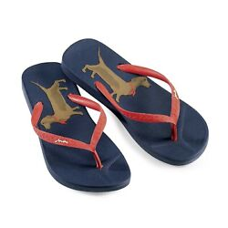 New Womenand039s Joules Dachshund Flip-flops - Choose Size Us Womenand039s Size 5-10