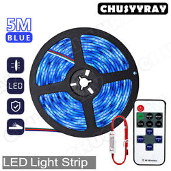 Blue 5m 2835 Waterproof 300 Bright Led Lamp With Dc12v Flexible 5m Tape Lamp