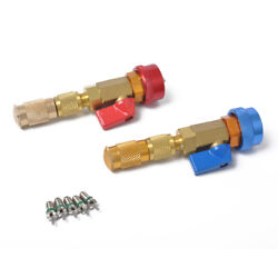 2 Pcs R134a A/c Car Air Condition 1/4and039and039 Sae Valve Core Replacement Tools Kits G