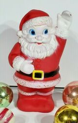 Vintage 1940s Santa Clause Squeak Squeeze Toy Rubber Vinyl Made By Sanitoy