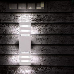 Modern Led Up Down Wall Light Sconce Dual Head Lamp Fixture Outdoor Waterproof