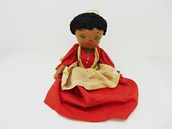 Vintage Soft Cloth Doll Maid Toaster Appliance Cover Black Americana