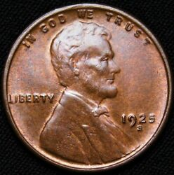 1925-s Lincoln Wheat Cent Ms++++r/b