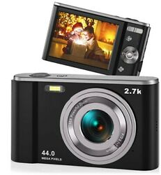 44MP Small Digital Camera for Photography Beginners 2.7K Vlogging Camera 2.88quot;