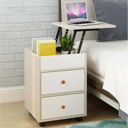 Floor Storage Cabinet Wood Display Bookcase Free Standing Furniture Bedside Desk