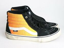 Vans Off The Wall High Top Black Skateboard Sneaker Shoes Men's Adult Size 10