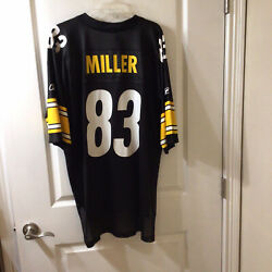 Pittsburgh Steelers Football Jersey 83 Miller Size Xl Onfield Reebok For Nfl