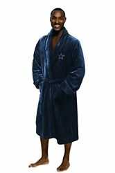 Dallas Cowboys Lounge Robe New 100 Polyester Imported Tie Closure