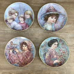 Hibel Studio The World I Love Series By Edna Hibel All Four Plates In Series