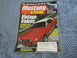 MUSTANG amp; FORD MAGAZINE AUGUST 2003 VINTAGE VALUES A COMPLETE GUIDE FORDS MERC