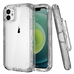 For Iphone 12 Pro Max 12 Pro 12 Case Hybrid Heavy Duty Clear Belt Clip Cover