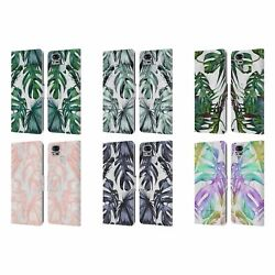 Nature Magick Palm Leaves On Marble Leather Book Case For Asus Zenfone Phones