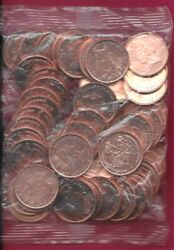 Isle Of Man British Dependency 2 Pence 1997 Pmaa Unc 50 Coins Bag2 Bicyclists W