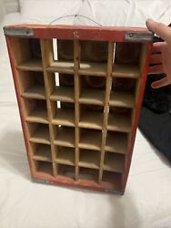 Original And Rare Wooden Coca-cola /rex Root Beer 24 12oz Bottle Crate. Carved