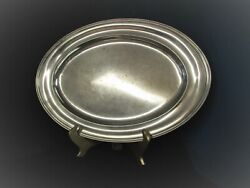 Hotel Piccadilly 1928 Large Oval Serving Tray Wallace Silverplate Opening Year
