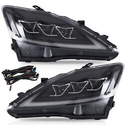 Free Shipping To Pr For 2008-2014 Lexus Is F Clear Led Headlights W/drl Sequenti