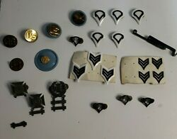 Us And Eagle Military Brass Army Collar Disk Uniform Insignia Bars 27pc