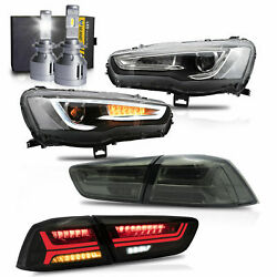 Spray Lacquer Headlights+smoke Taillights+vland H7 Led Bulbs For 08-17 Lancer