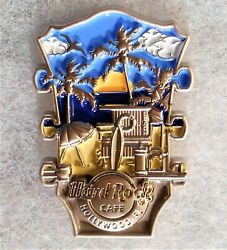 Hard Rock Cafe Hollywood Fl 3d Cityscape Headstock Series Pin 584939