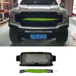 Black Honeycomb Front Center Mesh Grille Grill 2pc For Ford F-150 F150 2018-2020