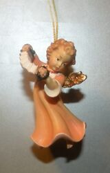New Angel With Accordion For Hanging, 10258-f , Wood Figurines Lepi, Italy