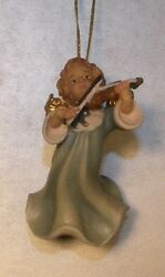 New Angel With Violin For Hanging, 10258-e , Wood Figurines Lepi, Italy