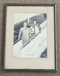 President Harry S. Truman And Bess Truman Photo Signed - Christmas 1946 - Framed