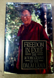 Dalai Lama Signed Autobiography Freedom In Exile Peace Of Earth If We Want It